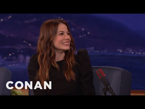 A Spider Monkey Took A Dump On Michelle Monaghan's Head  - CONAN on TBS