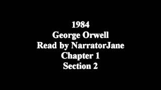 1984 Chapter 1, part 2 As read by NarratorJane