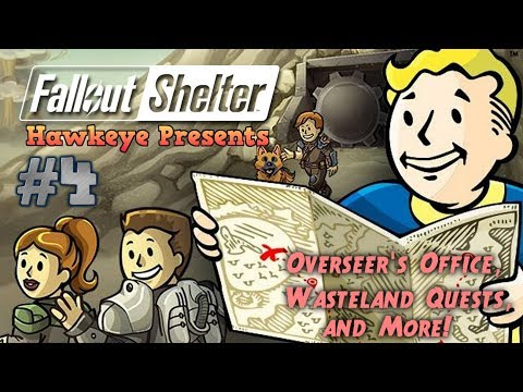 Fallout Shelter #4 - Overseer's Office, Wasteland Quests, And More!