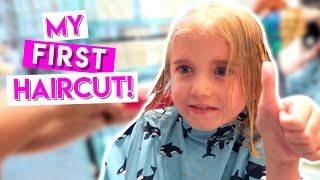 7 YEAR OLD HAS HER FIRST HAIRCUT!