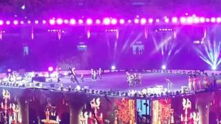 Shobana dancing@National games closing  ceremony