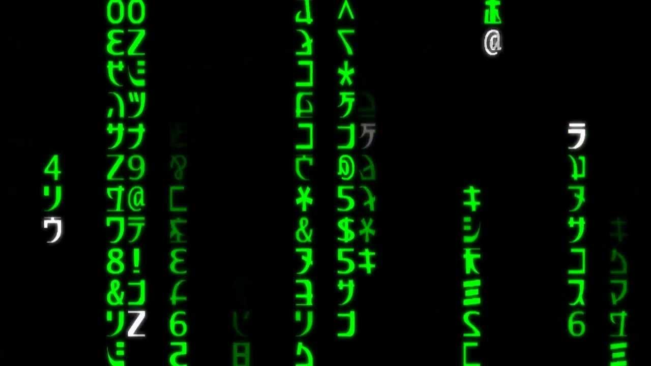 Matrix Falling Code Wallpaper Matrix Raining Code Animation Youtube