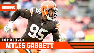 Myles garrett was dominant in the browns 2020 season, check out all of his top plays from year.#topplays