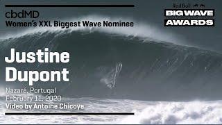 Justine Dupont at Nazaré | cbdMD XXL BIGGEST WAVE - Red Bull Big Wave Awards