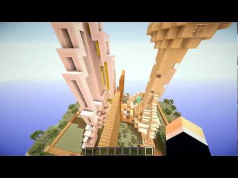 Extreme Minecraft Build-off | Seattle Sky Needle