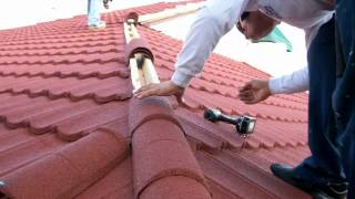 Red roof Allied Roofing and Sheet Metal Metro roof products