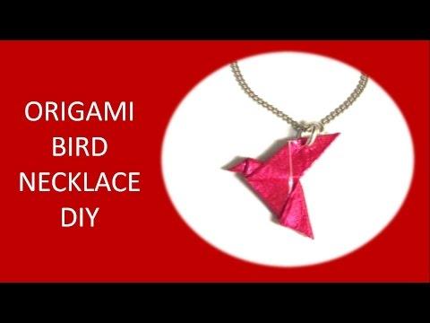 ★ Origami bird necklace ☆