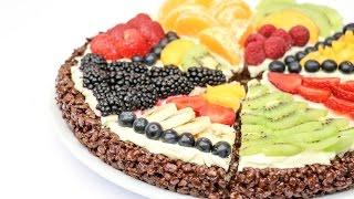 No Bake Pizza Fruits Cake - How To Make By Cakesstepbystep