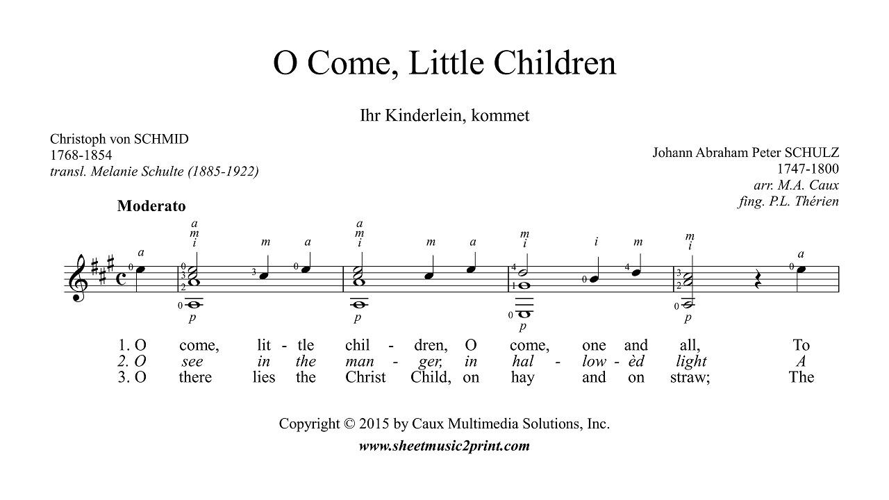 O Come Little Children Guitar Youtube