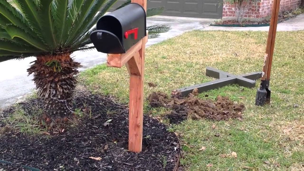 How to Install a Post and Mailbox Quickly  YouTube