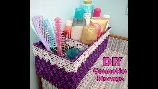 DIY Cosmetics Storage / Organizer Cardboard || Cajas Organizadoras De Carton || Its makeover tym thumbnail