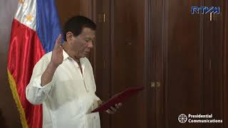 Oath-Taking of Department of Foreign Affairs Secretary Teodoro Locsin, Jr.