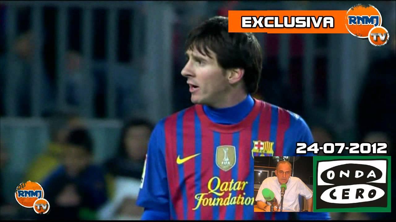 El incidente de Messi con Bartra en un entrenamiento
