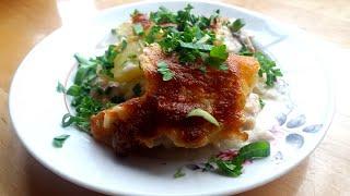 Картофельная ЛАЗАНЬЯ с грибами и мясом или запеканка с соусом бешамель
