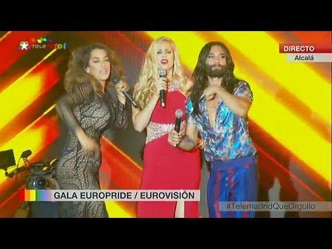 Conchita Wurst, Ruth Lorenzo, Suzy - World Pride Madrid, 01.07.2017