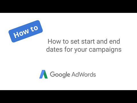 How to set start and end dates for your campaigns