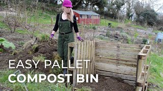 Easy to DIY Compost Bin using wood pallets