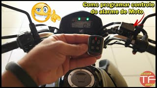 Como programar o controle do alarme de moto Duoblock Pósitorn