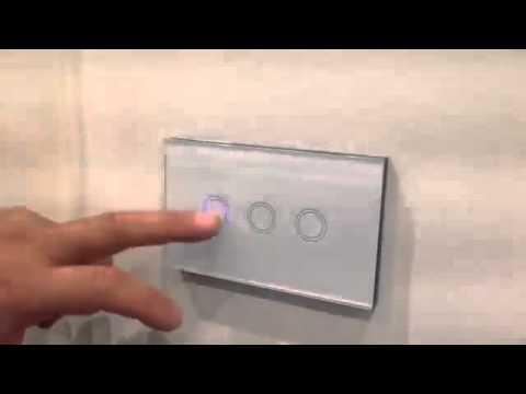 Modern Touch-Sensor Light Switch Demonstration - YouTube