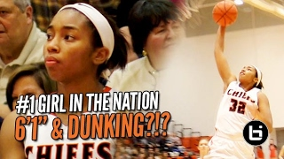 6'1 Megan Walker Attempts Dunk IN GAME: #1 Girl in the Nation