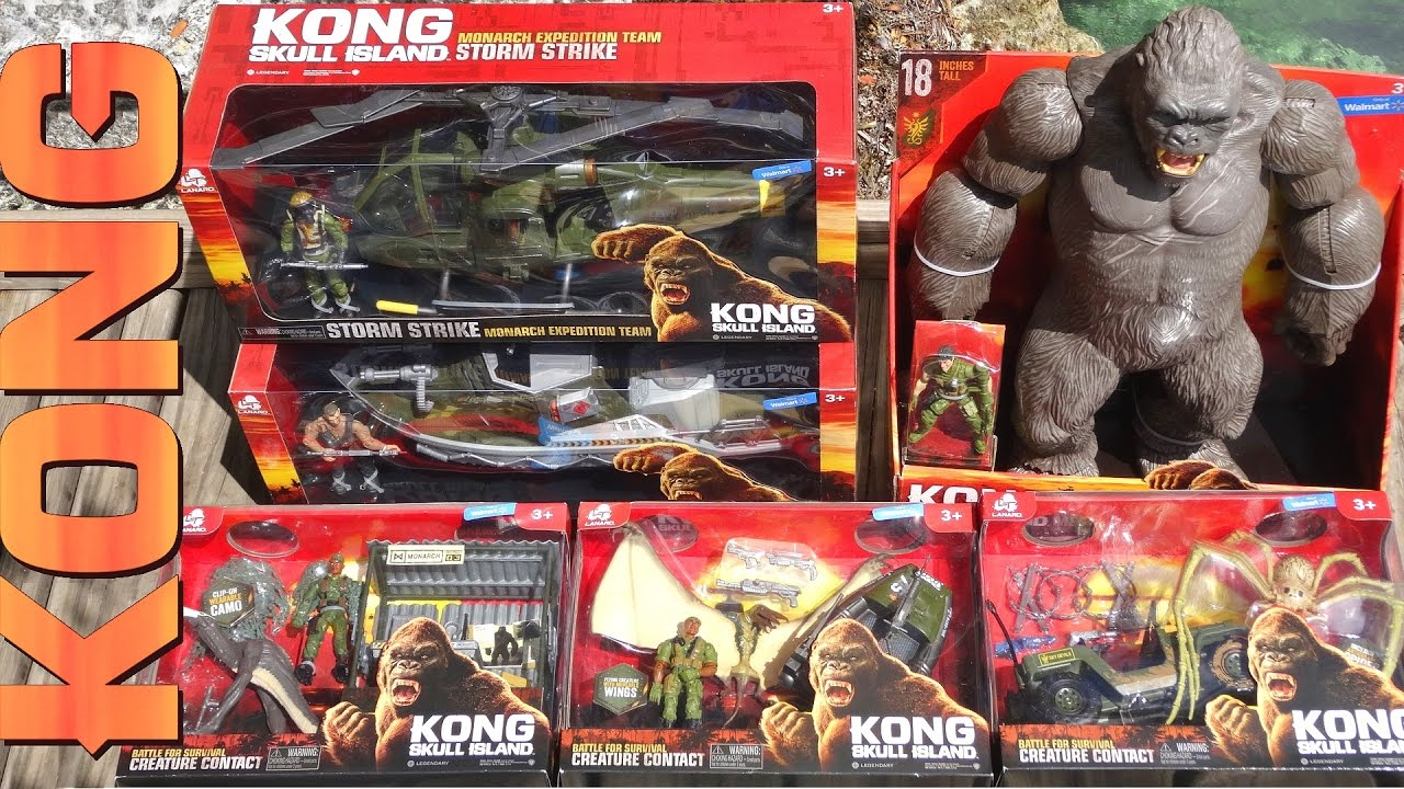 Ripping Open 6 Kong Skull Island Toys Action Figures Vehicles Play Sets Creatures Youtube