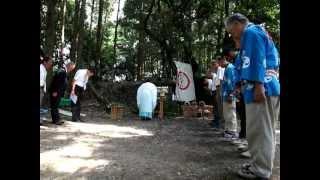 373鴨川北風原の鞨鼓舞・祝詞奏上 A shinto priest pray. MVI_2347c.MOV