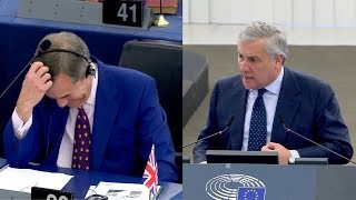 Farage vs. Tajani: Battle over history
