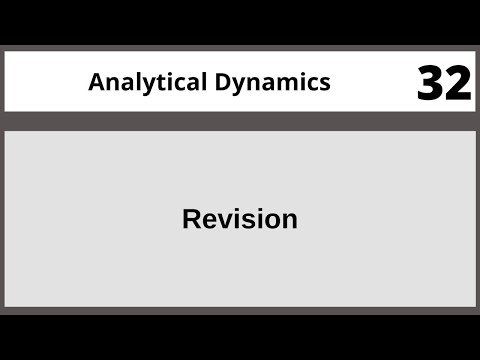 Analytical Dynamics in Hindi Urdu MTH382 LECTURE 32