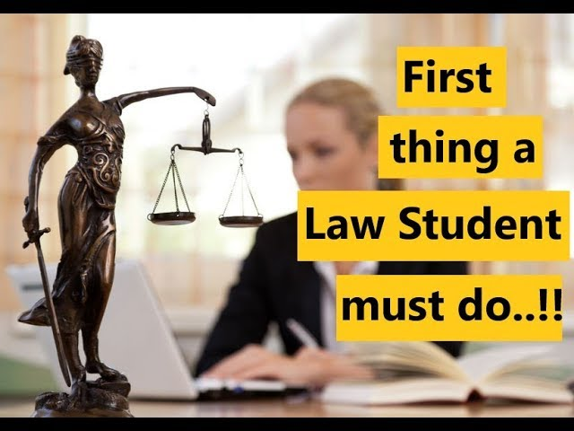 First thing law students must do after joining a law school..!!