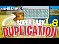 Minecraft 1.8 - BEST Duplication Glitch EVER! /// Simple Duplication Glitch [MCPE 1.8]