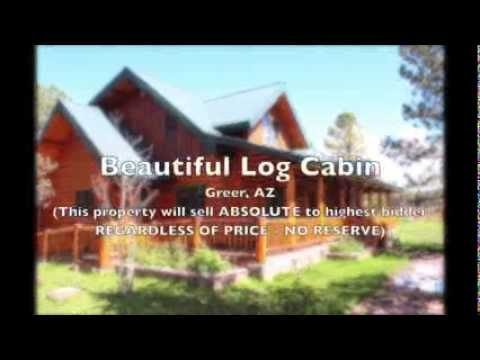 Absolute Auction of Cabin in Greer Arizona, October 23, 2013