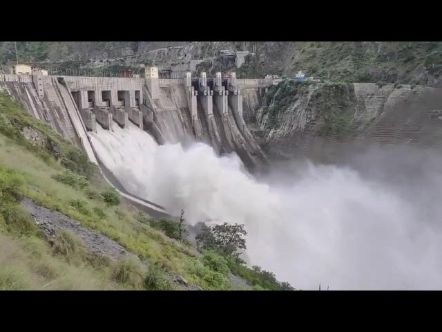 Chenab River Springs Baghlihar DAM