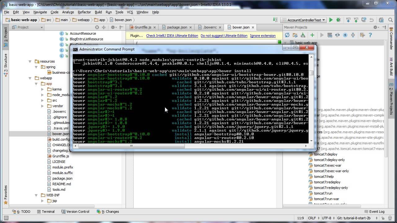 Web Development Using Spring and AngularJS - Tutorial 8