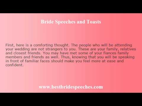Bride Wedding Speech  DonT Stress Out Just Relax  Youtube