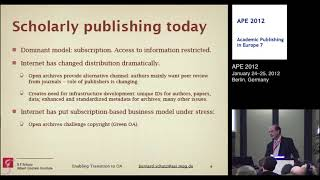 Enabling the Transition of Existing Journals to Open Access