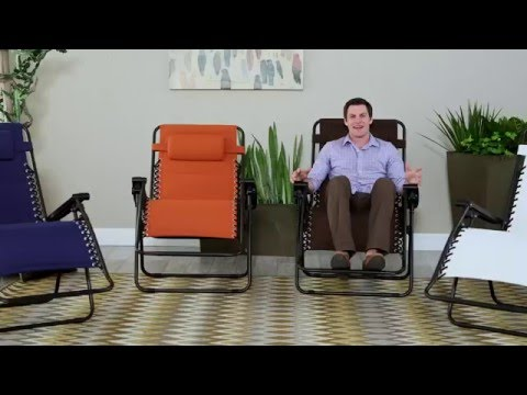 Coral Coast Padded Extra-Wide Zero Gravity Chair - Product Review Video