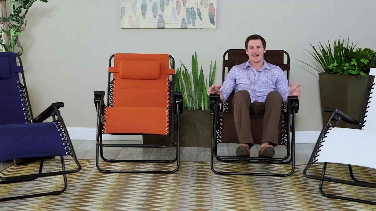 Merveilleux Coral Coast Padded Extra Wide Zero Gravity Chair   Product Review Video