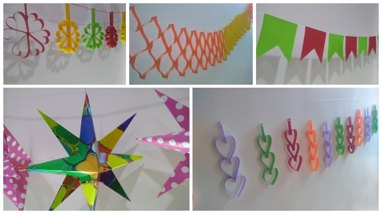 5 Easy Birthday and Party decorations ideas at home Paper ...