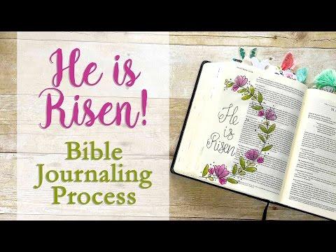 He Is Risen! | Bible Journaling Process