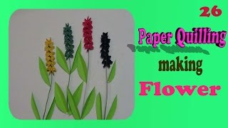 paper quilling : Making amazing  flowers - Must watch and learen