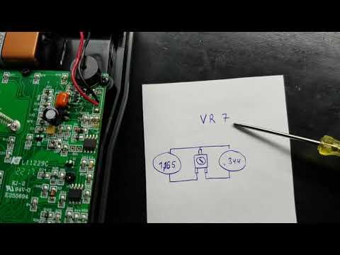 Ремонт Mastech MY64 , настройка после замены АЦП .