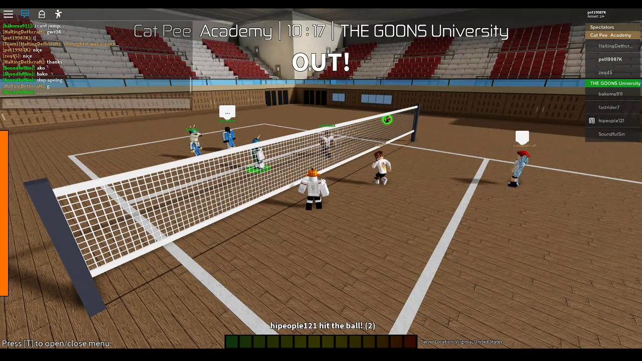 Volleyball Academy Roblox Tryout Petkub Ch Youtube