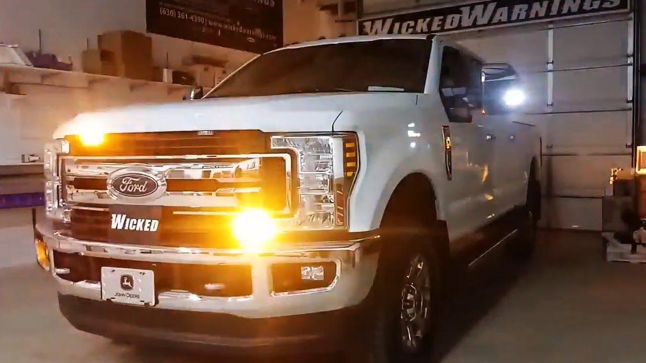 Vehicle Strobe Lights >> 2018 F 250 Superduty Featuring Amber White Construction Truck Strobe Lights