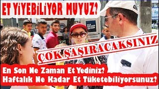 Türk Halkı Ne Kadar Et Yiyebiliyor? Halk Ne Diyor? Kurban Bayramı Özel Röportajı