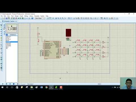 7-segment LED control by key matrix
