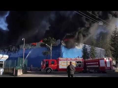 Mobilya Fabrikası Yangın Trabzon