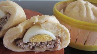 Как приготовить вьетнамские булочки Бань Бао Bánh bao рецепт видео китайские паровые булочки(Вьетнамские традиционные булочки на пару