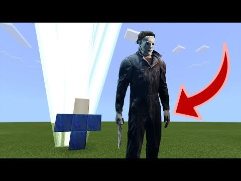 How to Spawn HALLOWEEN MICHAEL MYERS in Minecraft PE