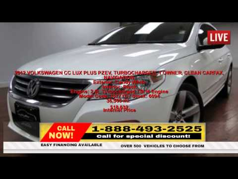 Used 2012 VOLKSWAGEN CC LUX PLUS PZEV, TURBOCHARGED, Maywood New Jersey | 1-888-493-2525 |