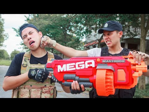 Nerf Guns War : Combatant SEAL TEAM Special Uses Tactics To Attack High-tech Crime